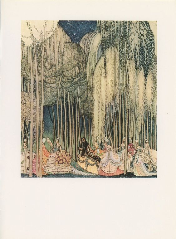 A Beardsley-esque Kay Nielsen - love the towering trees