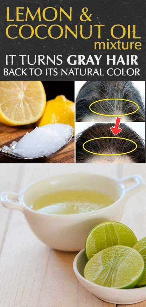 Return Your Natural Hair Color With This Coconut Oil Lemon Juice