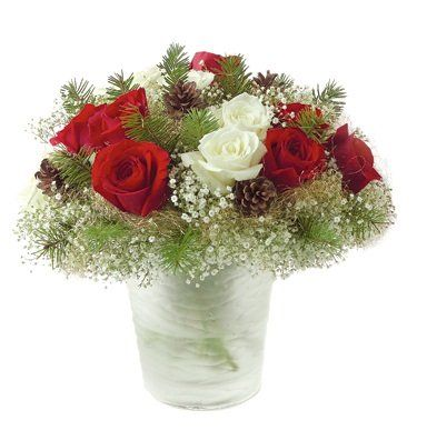 christmas flower arrangements: