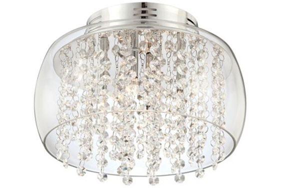 Possini Chrome Crystal Rainfall Modern Ceiling Light