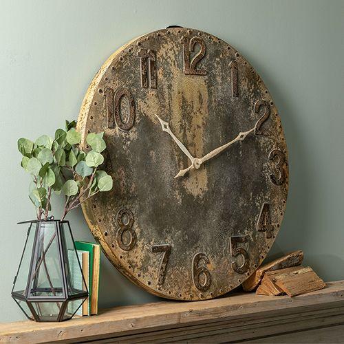 Cooper Classics 41420 Bartolo Wall Clock In Rustic Grey Industrial Bellacor In 2020 Grey Wall Clocks Wall Clock Steel Wall