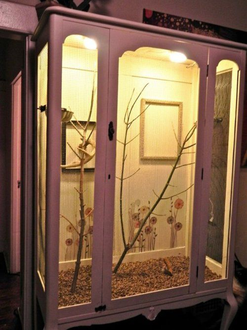build a bird cage out of a wardrobe crafts pinterest. Black Bedroom Furniture Sets. Home Design Ideas