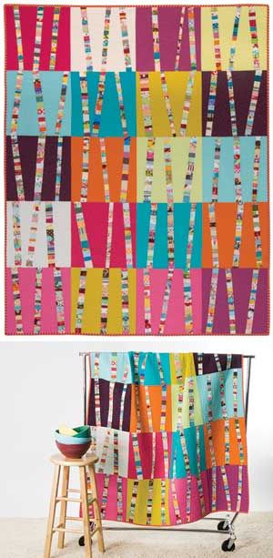 BRIGHT BIRCH TREES QUILT KIT: