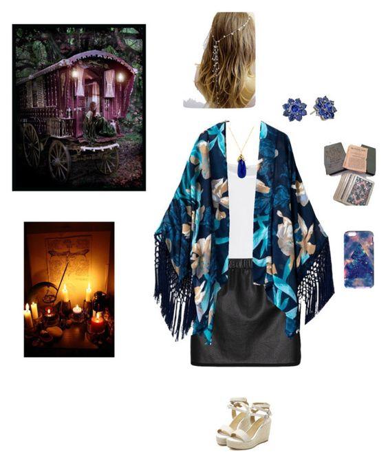 Gypsy fortune teller by lookingforaspotlight on Polyvore featuring moda, American Vintage, Thakoon Addition, Nina, Indulgems, gypsy and likedstuff