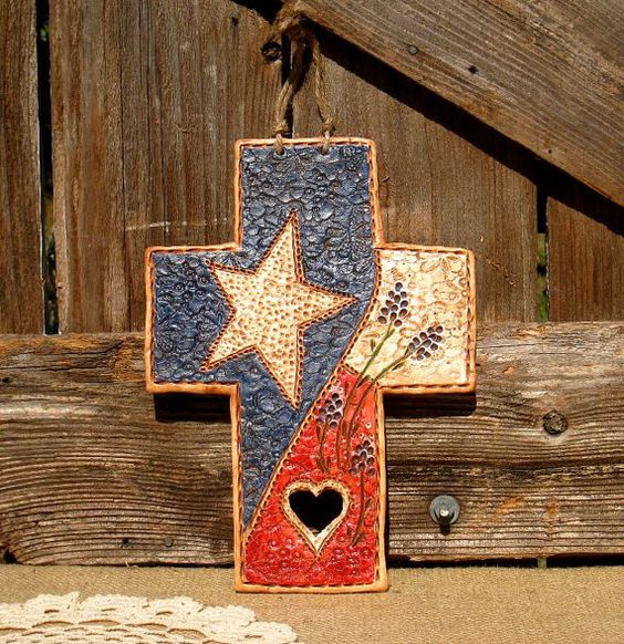 Big Texas Cross Wall Art / Cowboy Decor / Texas By