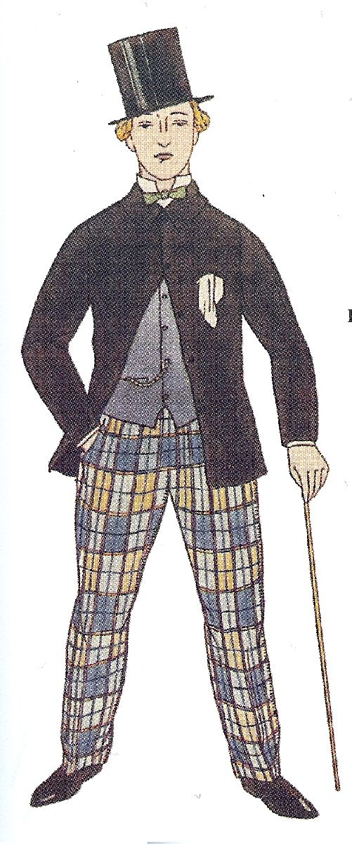 A History of Checkered Trousers - Les Incroyables - The Cutter and Tailor  1860
