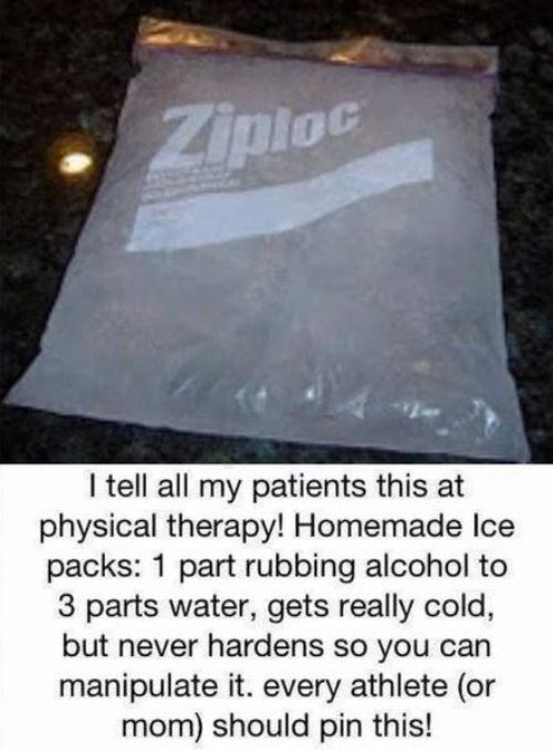 I would double bag it, but great idea :) and it would have been to find our about this when I got my wisdom teeth removed : 