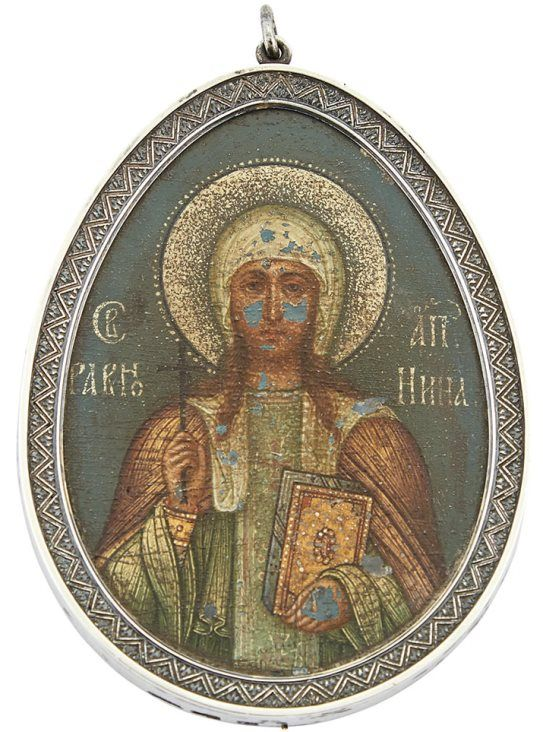 Faberge Silver Icon of St. Nina