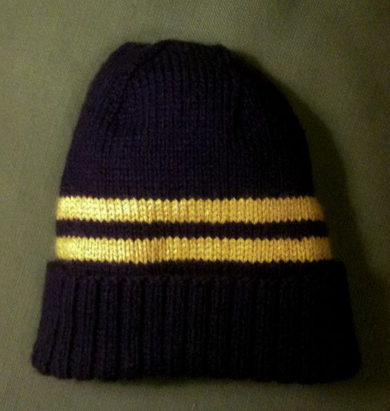 Purple and Gold Hat