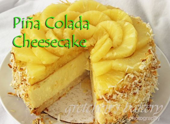 If you like Piña Colada you are going to LOVE this cheesecake!! Coconut Macaroon cookie base, creamy coconut rum cheesecake! Rum sponge cake & pineapples!