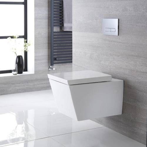 Hange Wc Quadratisch Sitz Mit Absenkautomatik Halwell Absenkautomatik Badezimmer Wand Wc