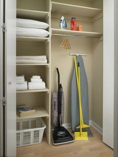 Utility closet in Mudroom - maybe with adjustable shelves                                                                                                                                                     More