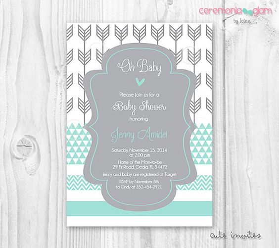 baby boy shower chevron baby shower boy baby shower boys mint baby
