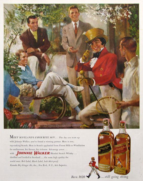 Pin Pa Retro Alcohol Ads Home Bar Decor