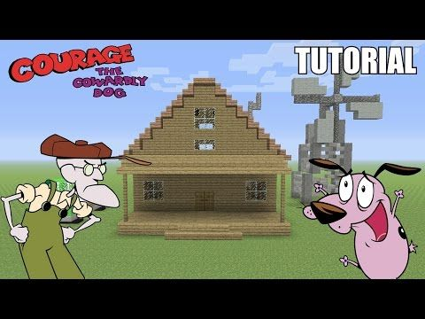 Minecraft Tutorial How To Make Courage S House Courage The