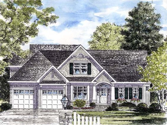Coastal country traditional house plan 94194 traditional for Craftsman cape cod