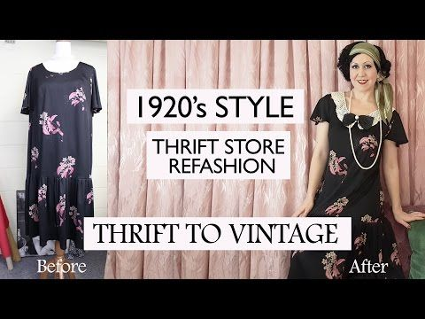 How To Refashion Thrift Store Clothes To Vintage 1920 S Style Costume Thrift To Vintage Ep1 Youtube Thrift Store Outfits Diy Clothes Vintage Refashion