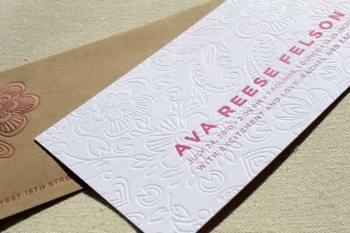 Floral Birth Announcements for Ava by Brighten My Day