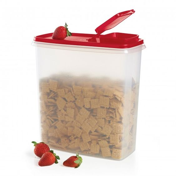 Tupperware Fundraiser - Modular Mates® Super Cereal Storer:          Holds 20 cups/4.8 L of your morning favorite! Thank you for your generous support. $7.60 of your purchase will be donated to the benefitting organization.PassionDishwasher safeLimited Lifetime WarrantyColors may vary and substitutions may occur.    Item:10049015569