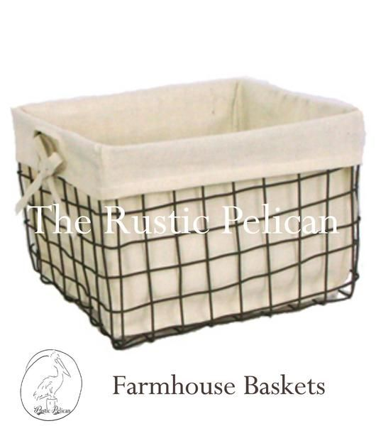 Rustic Farmhouse Wire Baskets Bathroom Storage Bathroom Basket Storage Diy Bathroom Storage Rustic Baskets
