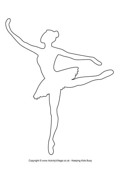 Ballerina Vorlage 2 Balerin Parti Balerin Silueti Boyama Sayfalari