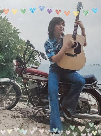 ギターを弾く若い頃・昔の西城秀樹