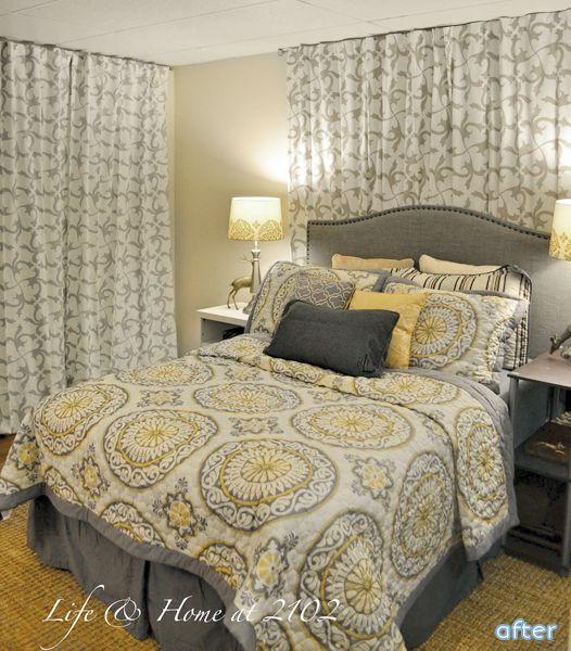 Basement Bedroom Remodel. Fake A Window And Hide A Door