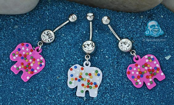 circus animal cookie belly button ring