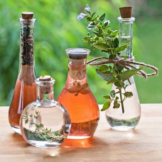Fresh Herb Vinegar Recipe Flavored Vinegars Herbs Herbal Vinegar