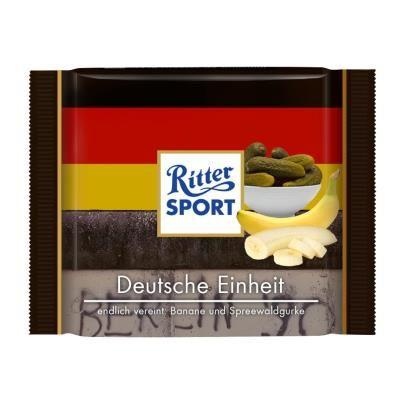 RITTER SPORT Fake Schokolade Deutsche Einheit (Eigenkreation von RITTER SPORT)