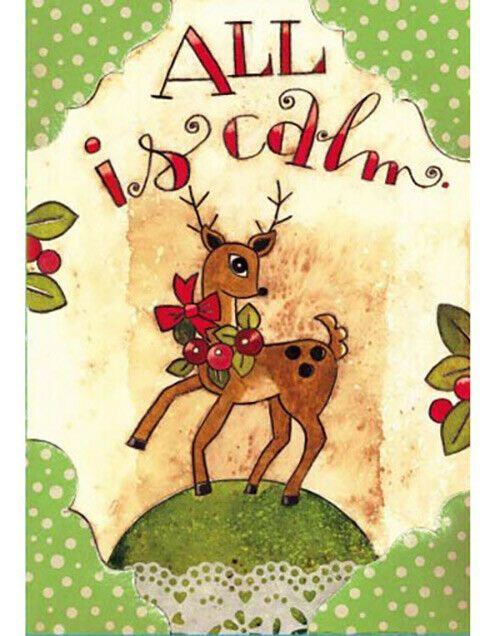 2020 Boxed Traditional Christmas Cards Lang Boxed Christmas Cards Karen Goode Dancing Reindeer, 12 Cards