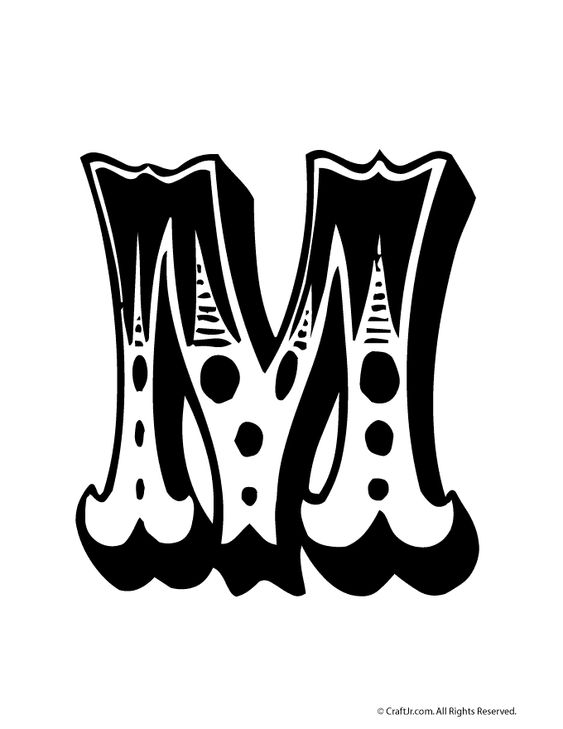 Circus Bubble Letters to Print Circus Bubble Letter M – Craft Jr