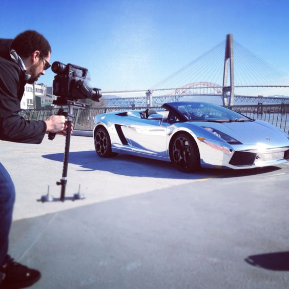 Shooting out next video, starring our chrome wrapped Lamborghini!