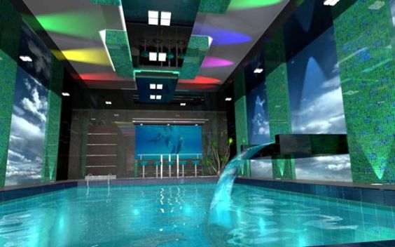 Crazy cool pool room can i live here pinterest pools - Cool rooms with pools ...