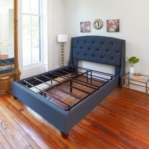 Full Size Beds Frame Sturdy Metal Mattress Platform Base No Box