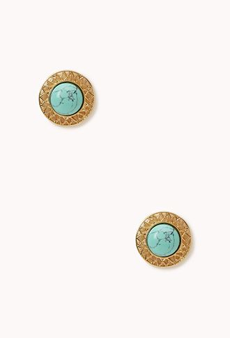 Cutout-Trimmed Dome Studs | FOREVER21 - 1055289524