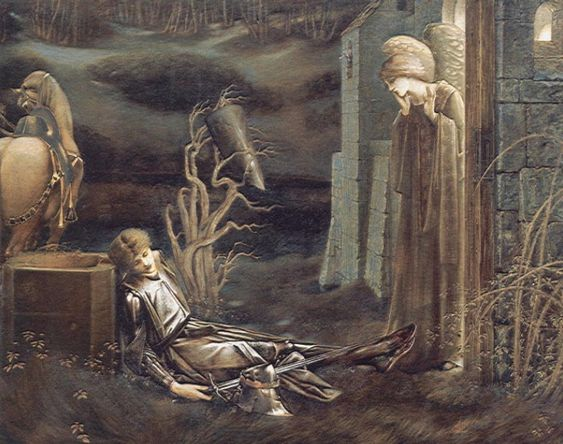 The Dream of Launcelot at the Chapel of the San Graal by Edward Burne-Jones