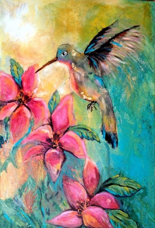 Colibri Jpg Painting 2x40x60 5 Cm 169 2013 Por Annie
