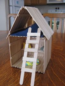 Almost Unschoolers: Popsicle Stick House
