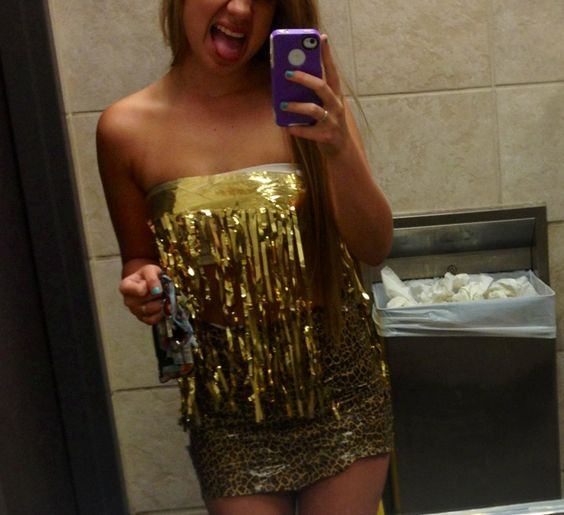Abc party outfit, cheetah tape and gold banner! | ABC ...