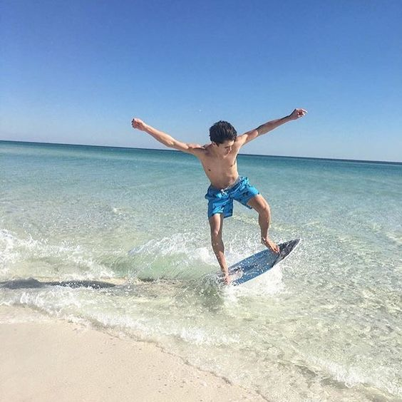 Surf's up! Don't just tan at the beach! Get your active on and enjoy water sports, snorkeling, sandcastle building and more during your summer beach vacation!   Instagram: @louiekerdock