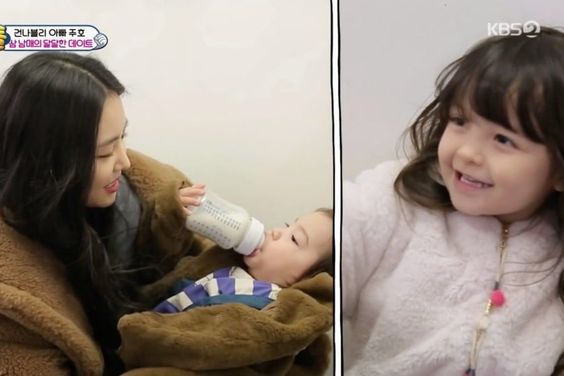 "Apink's Son Naeun Instantly Wins Over Na Eun's And Gun Hoo's Hearts On ""The Return Of Superman"""