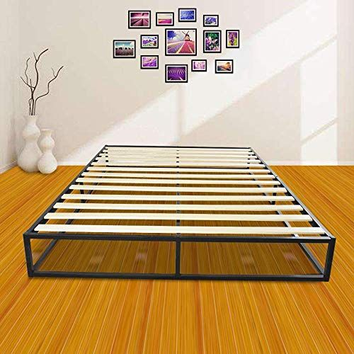 New Bigbanana 10 Inch Metal Bed Frame Wooden Slats Wood Platform
