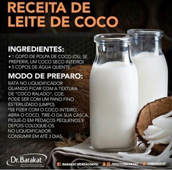 Receita de Leite de Coco