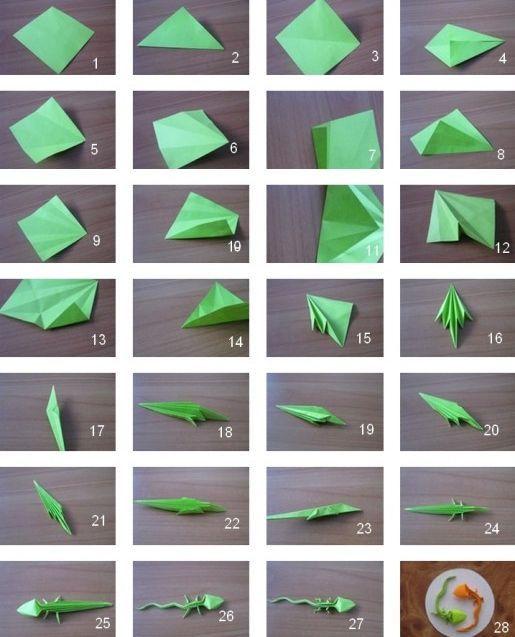 origami gecko 28 images origami lizard kawasaki 3d
