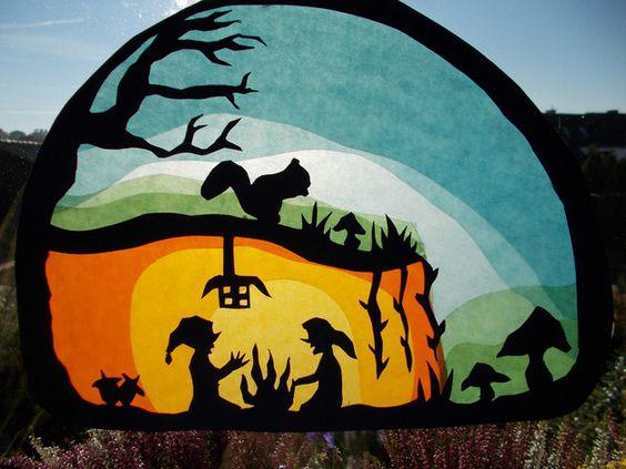 Jahreszeitentisch - Waldorf Transparentbild Märchen - ein Designerstück von Puppenprofi bei DaWanda