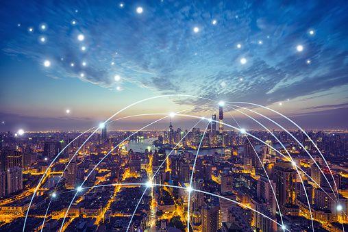 Stock-Foto : Shanghai city network technology
