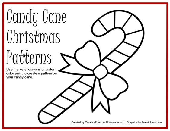 Free Printable For Painting Candy Cane Patterns Candy Cane