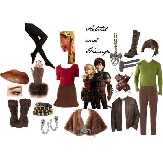 Astrid and Hiccup by dagger-seishin on Polyvore featuring Charlotte Russe, Falke, COSTUME NATIONAL, Clarks, John Hardy and Ermenegildo Zegna