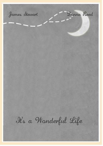 It 39 S A Wonderful Life Minimalist Poster Minus The Tree I Do Not Consider This A Christmas